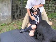 จับนักเรียนญี่ปุ่นให้สุนัข ข่มขืนเธอคาชุดนักเรียน ทั้งกลัวทั้งเสียวน่าสงสารมาก