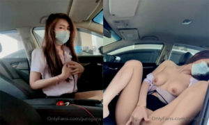 คลิปโป๊หลุด Onlyfans  juniijune น้องจูนสาวออฟฟิศนักช่วยตัวเองเกี่ยวเบ็ดในรถ นมใหญ่โครตสวย